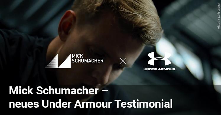 Mick Schumacher und Under Armour gemeinsam viel vor und stellten auf der FIBO 2019 ihre Kampagne vor.