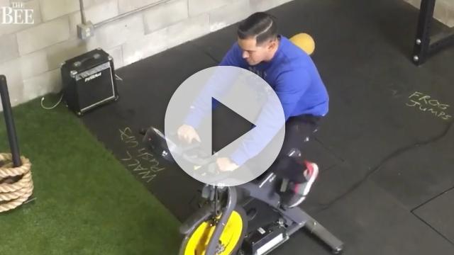 Im Sacramento Eco Fitness verbrauchen die Mitglieder auf dem Spinning-Rad Kalorien und erzeugen gleichzeitig grünen Strom.