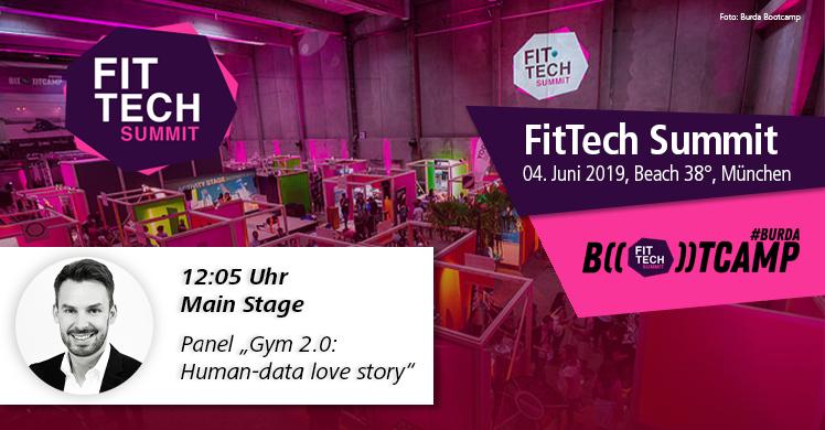 Janosch Marx, Geschäftsführer fitness MANAGEMENT, moderiert Panel auf der Main Stage beim FitTech Summit 2019 in München.