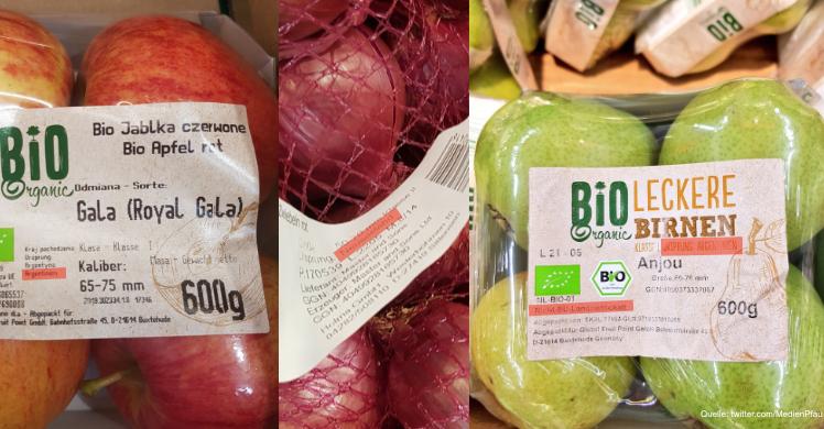 Schlechte Ökobilanz für Obst und Gemüse: Äpfel, Zwiebeln oder Birnen aus Argentinien und Neuseeland in deutschen Supermärkten.