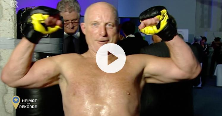 Weltrekord: Kurt Köhler schafft die meisten Boxschläge in einer Stunde. Portrait über den Extremsportler im Bayerischen Fernsehen.