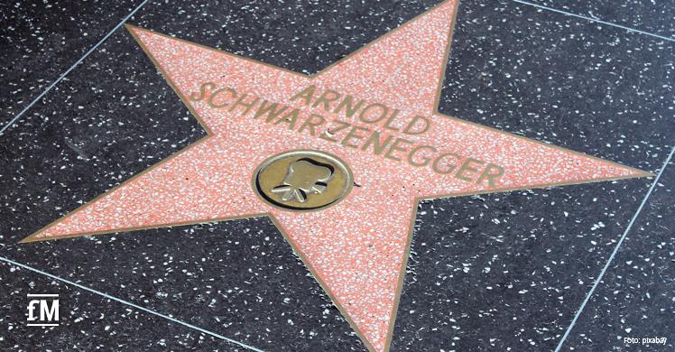 Schauspieler Arnold Schwarzenegger hat einen eigenen Stern auf dem 'Walk of Fame' in Los Angeles.