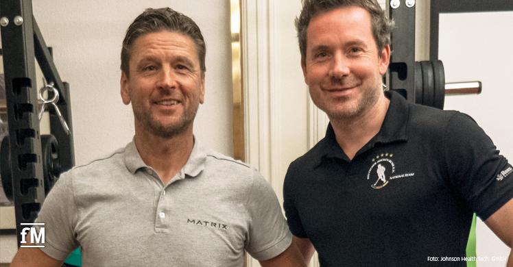 Volker Lichte, der für MATRIX den Bereich Leistungssport betreut und der Bundestrainer der Hockey-Nationalmannschaft der Herren,Stefan Kermas
