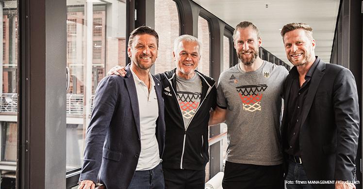 Gruppenbild vor dem Interview (v. l.): Volker Lichte, Armin Andres, Arne Greskowiak, Jürgen Wolff