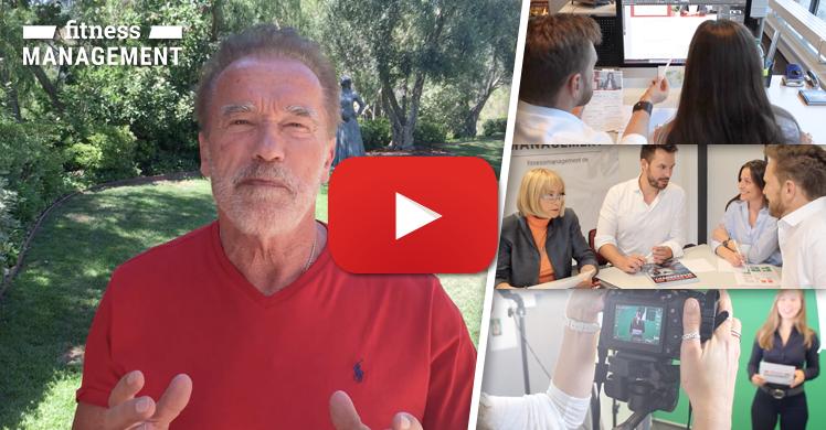 Bewegte Bilder: Der fitness MANAGEMENT Imagefilm mit Arnold Schwarzenegger