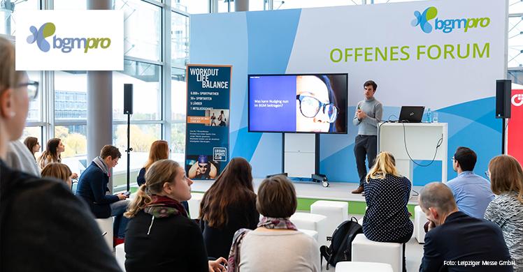 Fachmesse und Kongress für Betriebliches Gesundheitsmanagement am 18. und 19. November 2019 im Congress Center Leipzig.