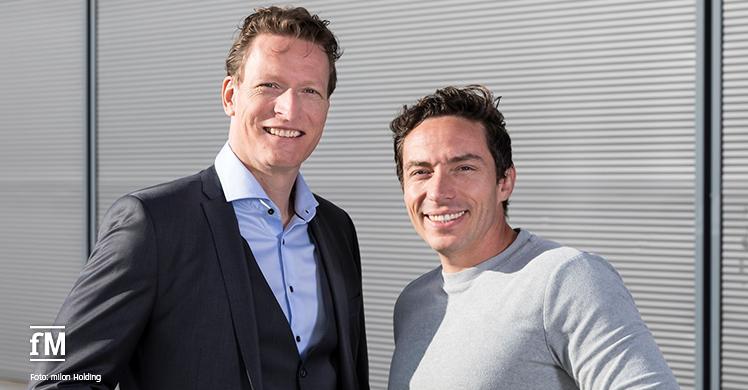 Zwei neue gleichberechtigten Geschäftsführer der milon Holding GmbH: Wolf Harwath (rechts) und Bernd Reichle.