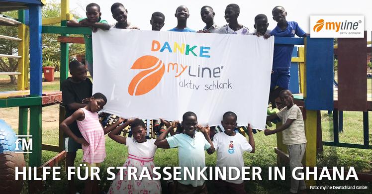 Spende für Ghana: 'myline Pfundsengel' unterstützen 'Kinder Paradise' in Accra