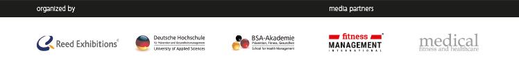 FIBO CONGRESS 2020: Organisatoren und Medienpartner (Reed Exhibition, Deutsche Hochschule für Prävention und Gesundheitsmanagement, BSA-Akademie, fitness MANAGEMENT international, medical fitness and healthcare)