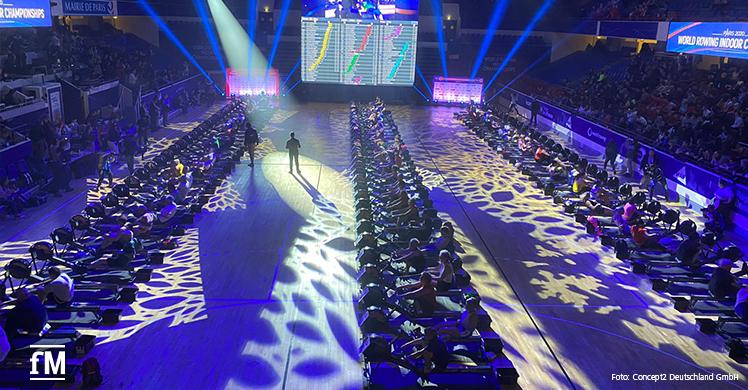 Indoor Ruderer soweit das Auge reicht: Die World Rowing Indoor Championships 2020 in Paris