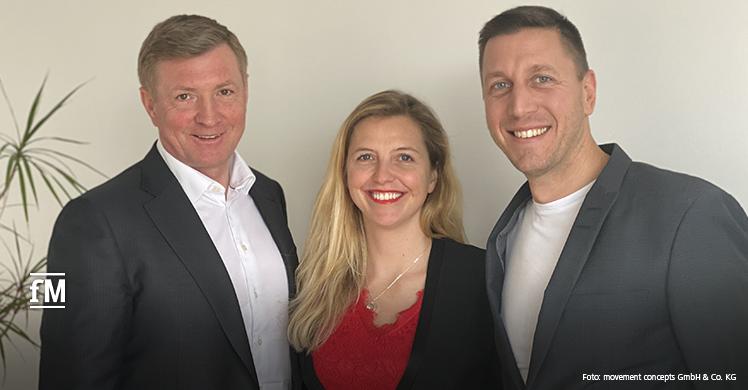 Gemeinsam neue Zielgruppen für Fitness- und Gesundheitsanlagen im Blick (von links): Mario und Christin Görlach und skillcourt- und runningzone-Erfinder Christian Hasler