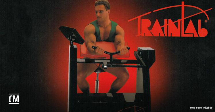 50 Jahre milon industries: 1986 präsentierte das Unternehmen die Innovation 'Trainlab', die erste Serie elektronisch gesteuerter Kraft-Trainingsgeräte
