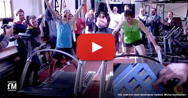 Video: 50 km Laufband-Weltrekordversuch LIVE bei Facebook
