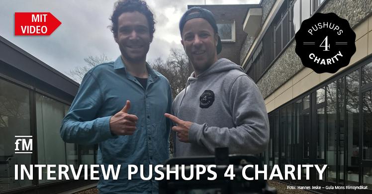 Pushups 4 Charity: fitness MANAGEMENT Redakteur David Köndgen traf Malte Schmidt zum Video-Interview in Hamburg