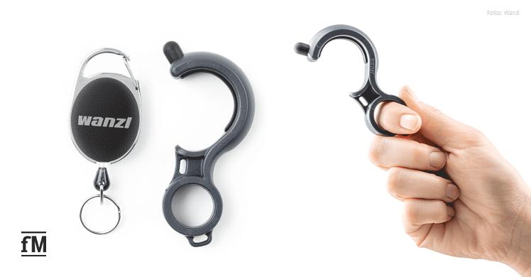Der Hook Hygiene-Haken von Wanzl hat einen Jojo-Clip.