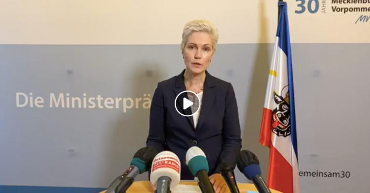 Video: Corona-Lockerungen in Mecklenburg-Vorpommern – Pressekonferenz mit Ministerpräsidentin Manuela Schwesig (SPD)