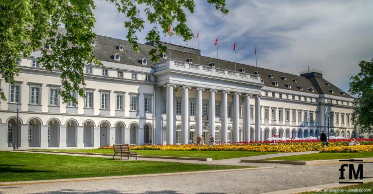 Koblenzer Schloss: Fitnessstudios dürfen in Rheinland-Pfalz nach dem Corona-Lockdown ab 27. Mai 2020 wieder öffnen