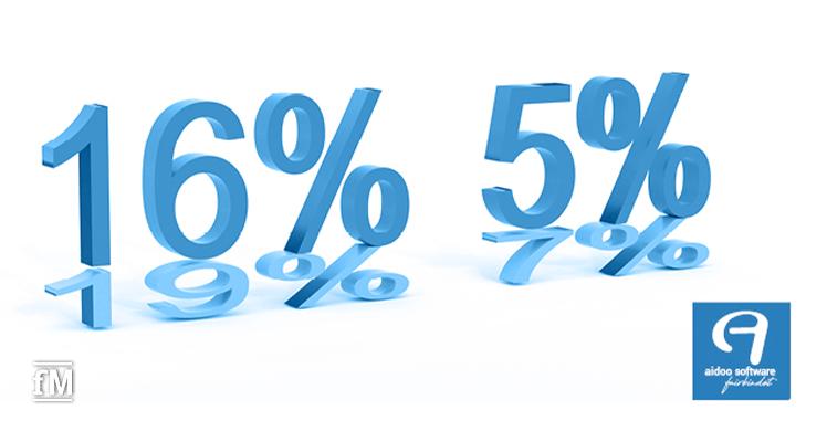 Aidoo-Webinare zu den neuen Mehrwertsteuersätzen von 16 und 5 Prozent – so setzen Sie die Mehrwertsteueranpassung um