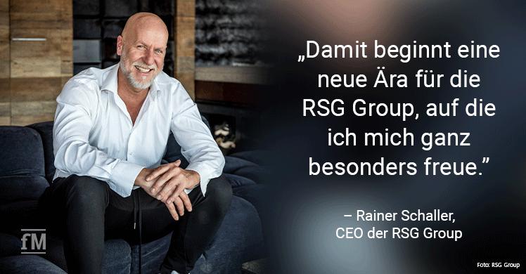 Rainer Schaller, Gründer und CEO der RSG Group GmbH