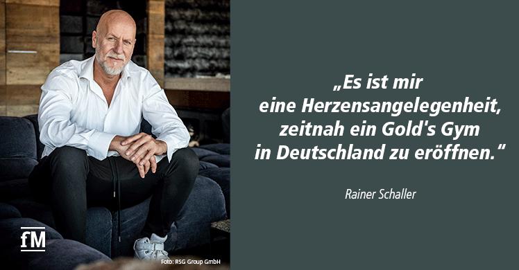Gold's Gym in Deutschland für Rainer Schaller eine 'Herzensangelegenheit'