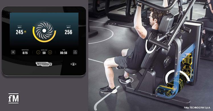 Neuer Technogym Biocircuit verfügt über eine Konsole mit 10-Zoll-Bildschirm.