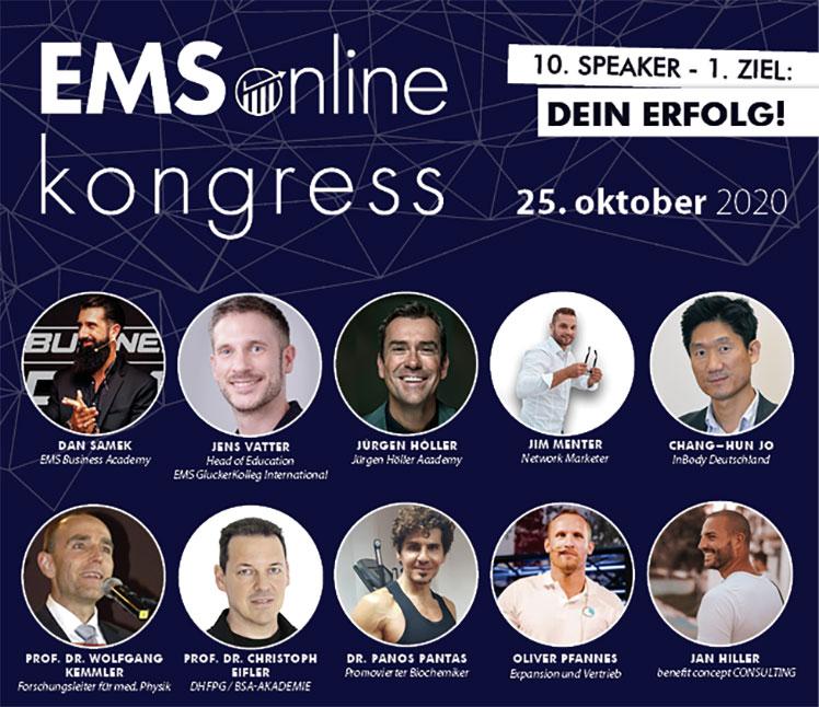 Die Speaker des 2. EMS Online Kongresses