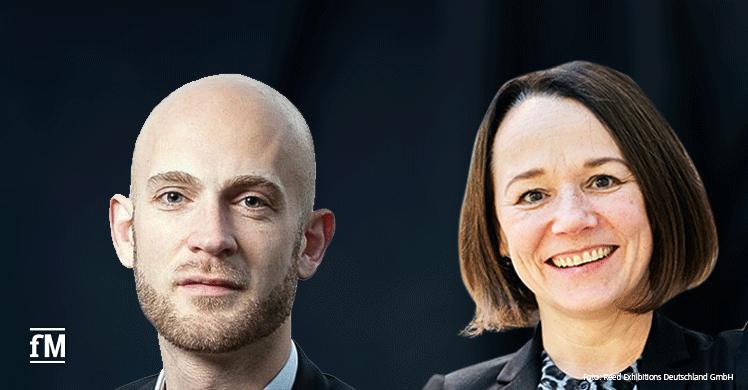 FIBO-Chefin Silke Frank und EuropeActive Executive Director Andreas Paulsen.