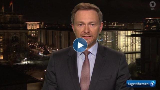 Video tagesthemen-Interview mit FDP-Chef Christian Lindner: Kritik an der Regierungserklärung nach den Bund-Länder-Beschlüssen