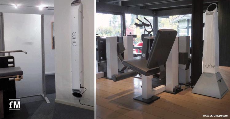 Luftreinigung im Tutzinger Fitness- und Gesundheitsclub Life Competence mit UVC-Luftentkeimungsmodulen (pure) von JK-International