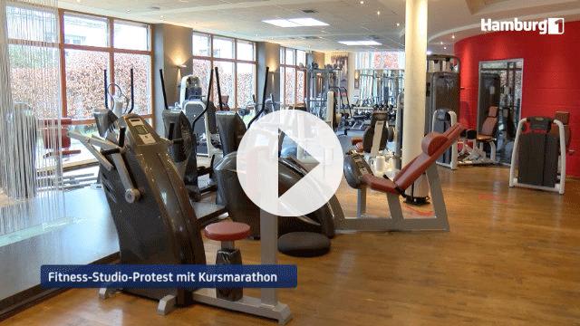 Wirtschaft: Fitnessstudios protestieren mit digitalem Kursmarathon   Hamburg 1 Mediathek