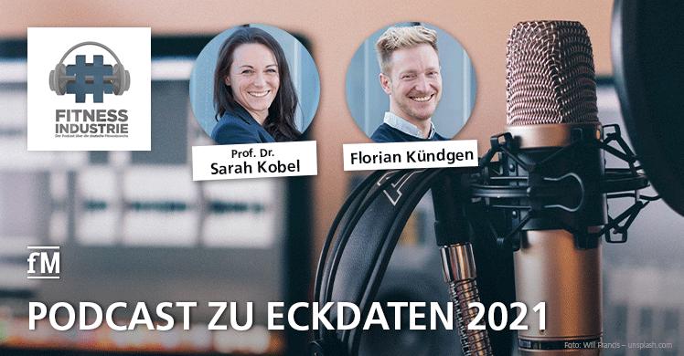 Eckdaten 2021 'Hashtag Fitnessindustrie' Podcast, Dr. Sarah Kobel und Florian Kündgen zu Gast bei Andreas M. Bechler