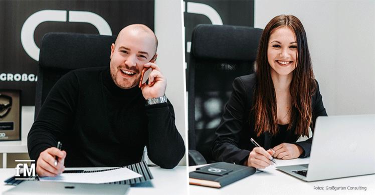 Geben Marketing-Tipps für den Restart nach dem Corona-Lockdown: Agenturinhaber Daniel Großgarten und Francesca Reimer von Großgarten Consulting.