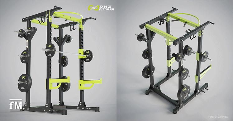 Neu auf dem Markt: So sieht das DHZ Fitness Power Rack im neuen Design aus.