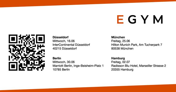 Termine der EGYM Deutschlandtour