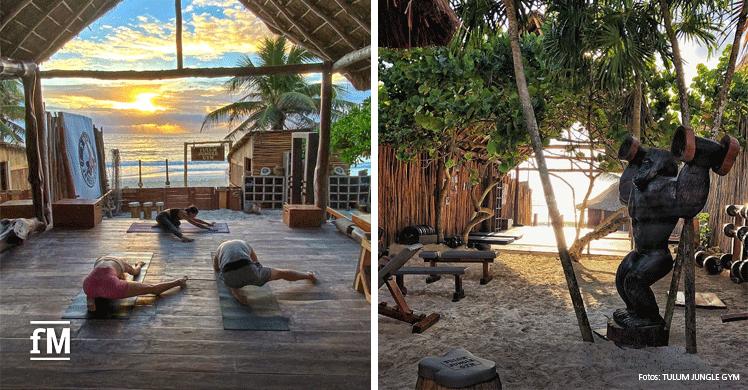 Dschungel und Strand - Im 'Tulum Jungle Gym' finden Sie beides.