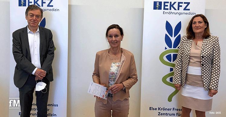 EKFZ-Expertengespräch 2021 (v.l.): Prof. Dr. Hans Hauner (TUM), Dr. Ulrike Schneider (EKFS), Prof. Dr. Renate Oberhoffer-Fritz (TUM)