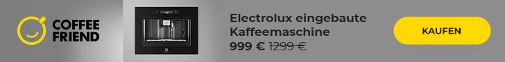 Electrolux eingebaute Kaffeemaschine bei Coffee Friend kaufen